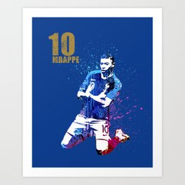 Sports art _ France world cup football 2018 Art Print
