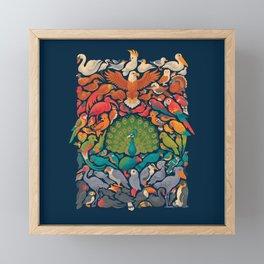 Aerial Spectrum : Blue Framed Mini Art Print