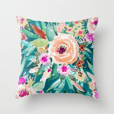 GOOD LIFE Colorful Floral Throw Pillow
