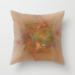 Folds In Muted Rainbow Throw Pillow