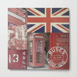 Great Britain London Union Jack England Metal Print