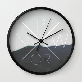 Pacific North West (Oregon) Wall Clock