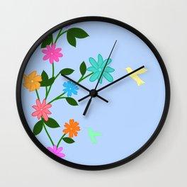 Flowery Day Wall Clock