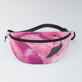 Flamingo Pink Watercolor Painting Gift Wife Girlfriend  Artsy Artistic Bird AnimalFlamingo Pink Wate Fanny Pack