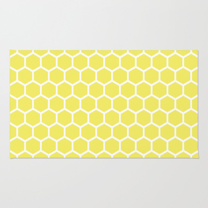 Summery Happy Yellow Honeycomb Pattern - MIX & MATCH Rug