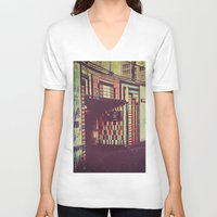 subway V-neck T-shirts featuring Subway by Efua Boakye