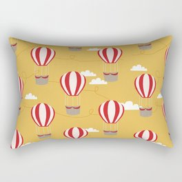 Hot air balloon pattern cute decor for boys or girls room Rectangular Pillow