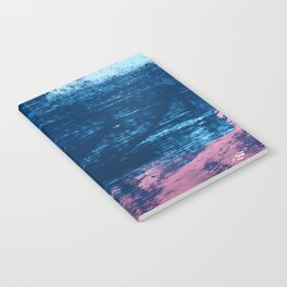 Early Bird [2]: A vibrant minimal abstract piece in blues and pink by Alyssa Hamilton Art Notebook