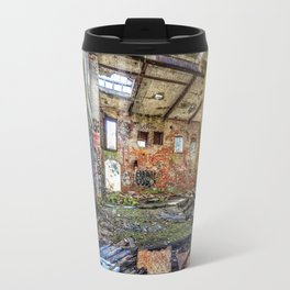 Abandoned old woolen mill factory Travel Mug