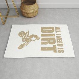 All I Need Is Dirt Bike Motocross Off-Roading print Rug