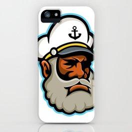 Black Sea Captain or Skipper Mascot iPhone Case