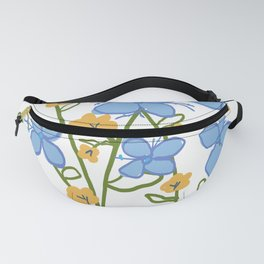 blue and yellow flowers Fanny Pack
