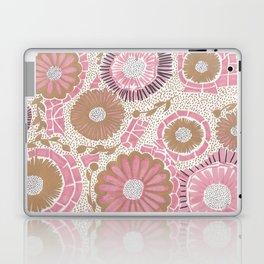 Pink & Gold Flowers Laptop & iPad Skin