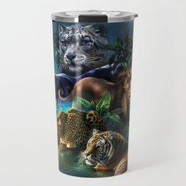The Mountain Big Cats Travel Mug