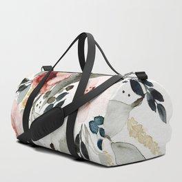 Loose Watercolor Bouquet Duffle Bag