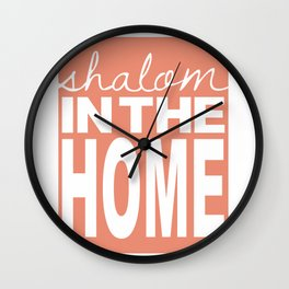 Shalom in the Home, salmon Wall Clock