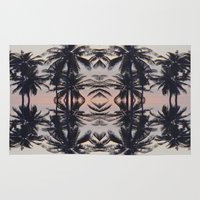 palm tree Area & Throw Rugs featuring palm tree by Maria Fernanda Furtado
