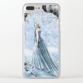 I can not escape my winter storm. Clear iPhone Case