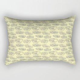 Animal Skulls (Yellow) Rectangular Pillow