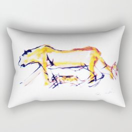 Lioness and cubs       by Kay Lipton Rectangular Pillow
