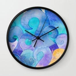 Ocean waves ornament Wall Clock