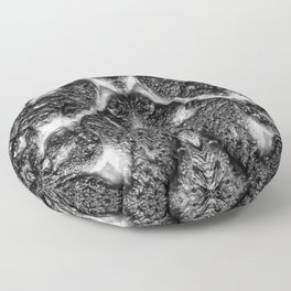 Mamba  Chief - Black and White Abstract Artwork Floor Pillow