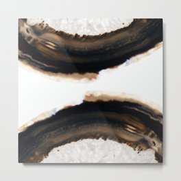 Agate Translucent #Brown #1 #decor #art #society6 Metal Print
