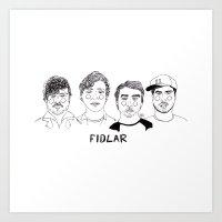 cactei Art Prints featuring Fidlar by ☿ cactei ☿