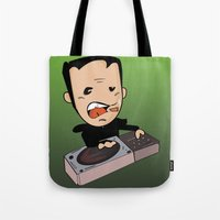 dj Tote Bags featuring DJ by Grime Lab