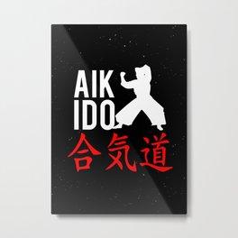 Martial Arts Wall Art Decor AIKIDO Metal Print