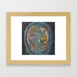 Welcome to my brain Framed Art Print