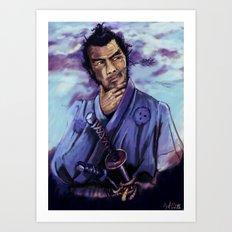 Toshiro Mifune digital painting. Art Print