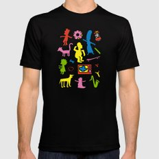 Haring - Simpsons Mens Fitted Tee LARGE Black