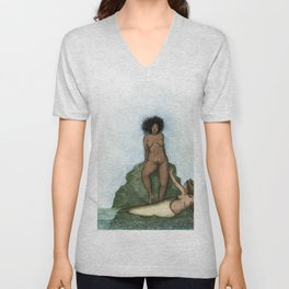 Selkie and the Land Wife Unisex V-Neck