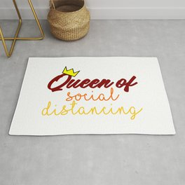 Queen Of Social Distancing Quarantine Stay Home Safe Funny Rug