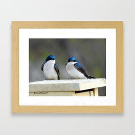 Standing on the Corner Watching All the Girls Go By Framed Art Print
