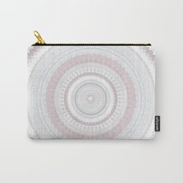 Elegant Pink Stone Mandala Carry-All Pouch