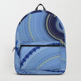 Powder Blue Boho Mandala Design Backpack