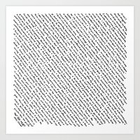 literary Art Prints featuring Literary Quotes by Abstract Graph Designs
