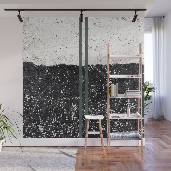 Stone and Splatter Wall Mural