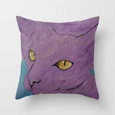 Purple Sphynx Throw Pillow