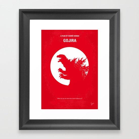No029-1 My Godzilla 1954 minimal movie poster Framed Art Print
