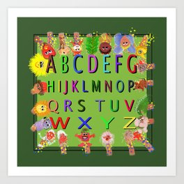 ABC's With Characters Art Print