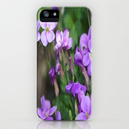 Blue to blue iPhone Case