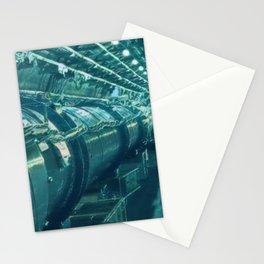 Switzerland Cern Large Hadron Collider Artistic Illustration Under Water Style Stationery Cards