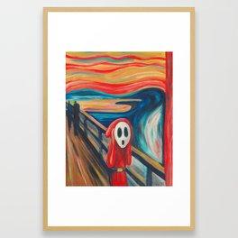 The Scream Shy Guy Framed Art Print