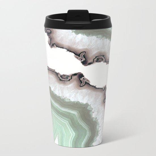 Light Water Agate Metal Travel Mug