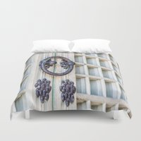 korean Duvet Covers featuring Korean Palace Doors by Jennifer Stinson