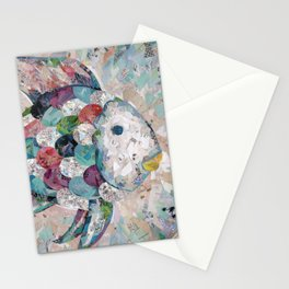 Rainbow Fish Collage Stationery Cards