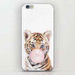 Bubble Gum Tiger Cub iPhone Skin
